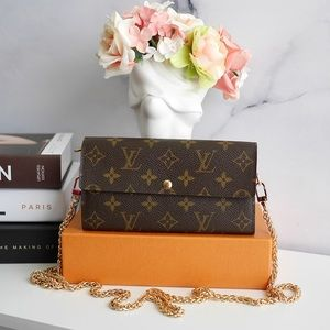 💖Authentic LV Mono Sarah Wallet on Chain CA5018